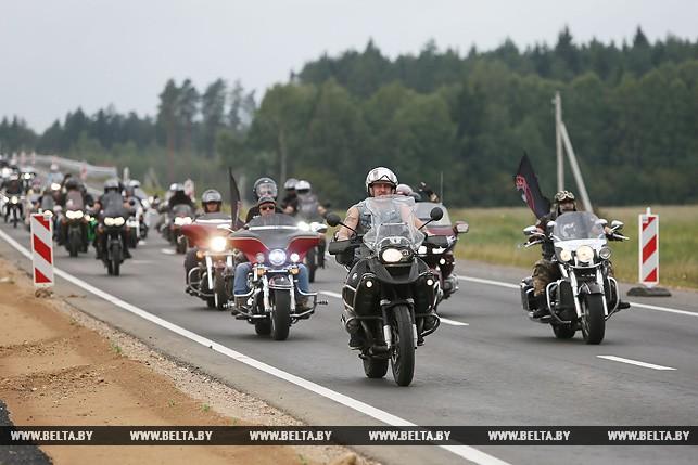 В Лидском районе собрались мотоциклисты из разных стран на байк-фестивале
