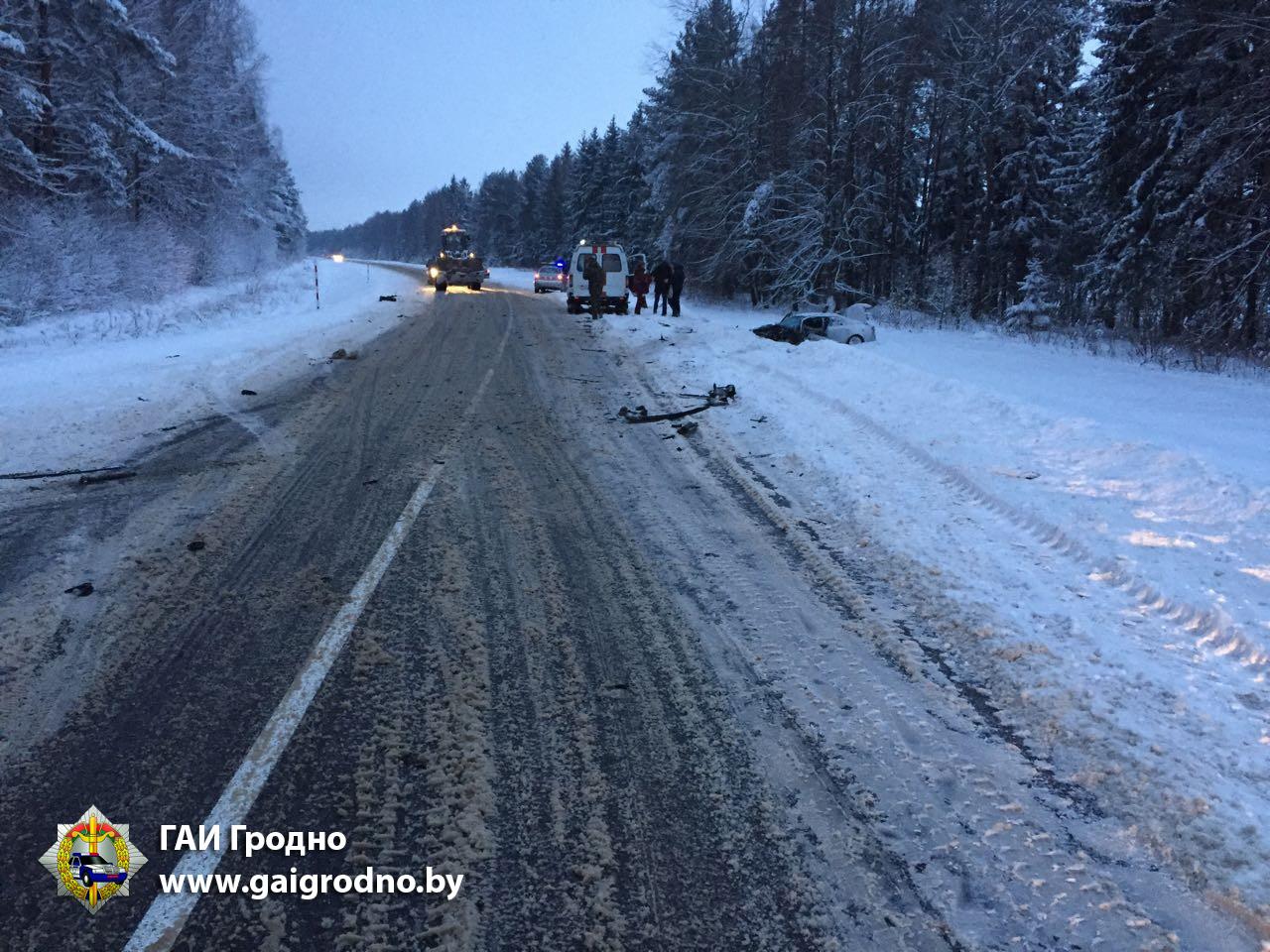На автодороге Лида — Вороново столкнулись два авто
