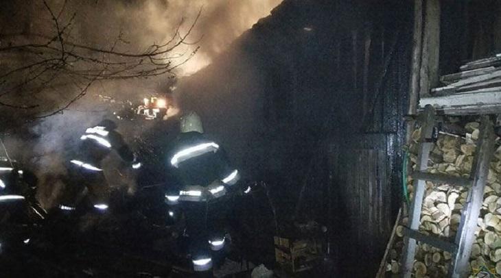 В Лиде в огне сгорел мужчина