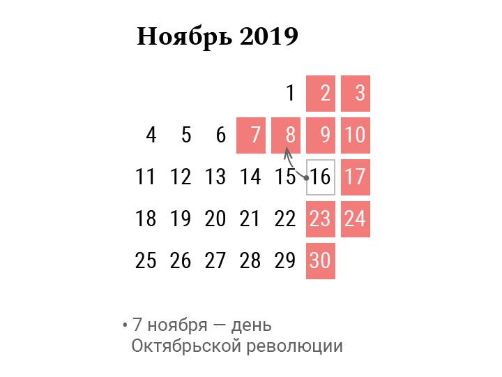 Белорусы будут отдыхать четыре выходных подряд в ноябре