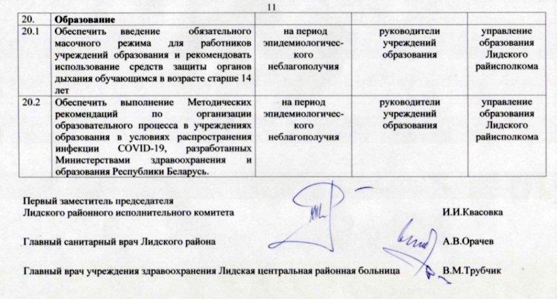 В Лиде введён масочный режим на общественных объектах