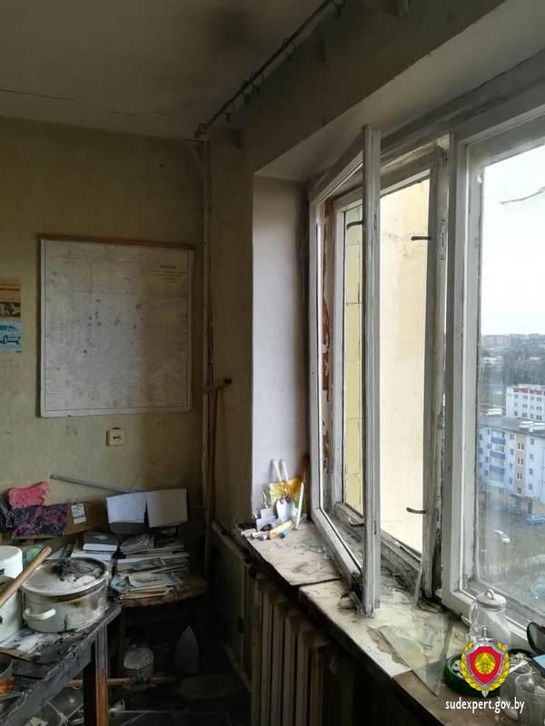 В лидской многоэтажке пожар начался из-за банки с водой