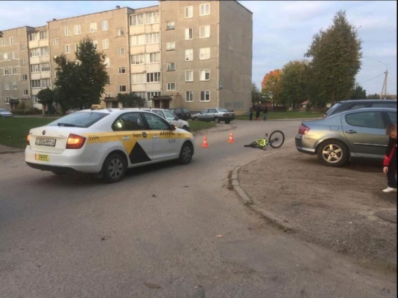 В Лиде девушка-таксист сбила 9-летнего мальчика на велосипеде