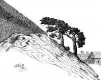 Лiдскi замак. Малюнак Я. Драздовiча, 1929 г.