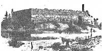 Лідскі замак. Малюнак Міхаіла Кулешы, змешчаны ў альбоме, выдадзеным Юзафам Крашэўскім