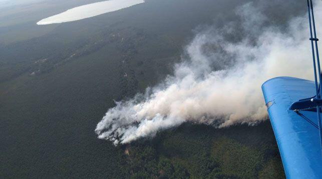 Торфяной пожар под Лидой ликвидирован