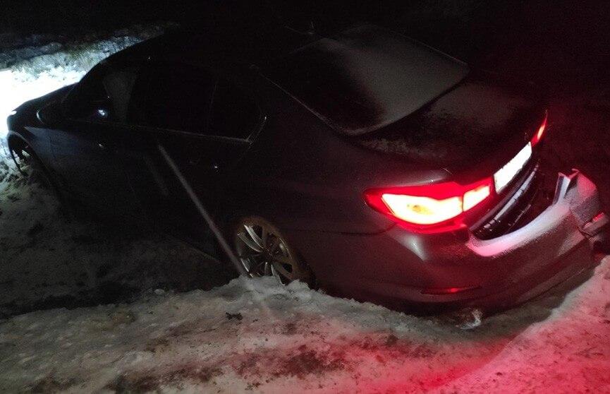 Москвичи на BMW попали в ДТП в Лидском районе