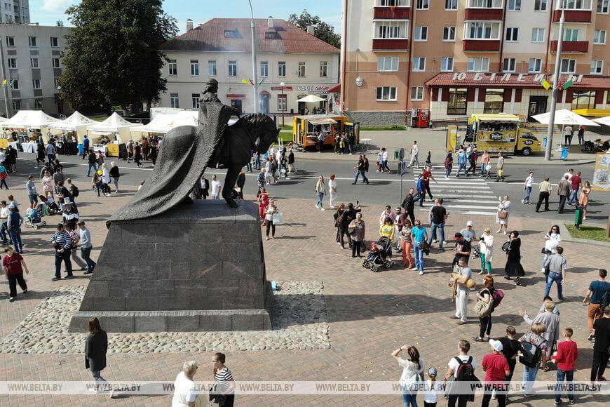 Памятник великому князю литовскому Гедимину открыли сегодня в Лиде