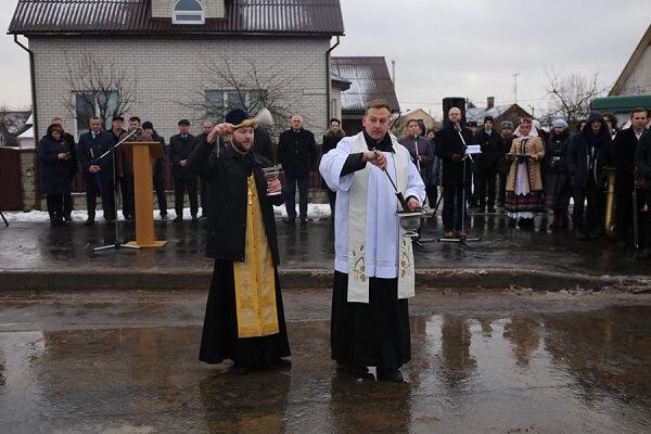 В Лиде священники освятили улицу Свердлова