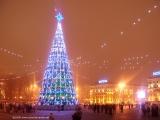 Главная Рождественская елка Беларуси на Октябрьской площади